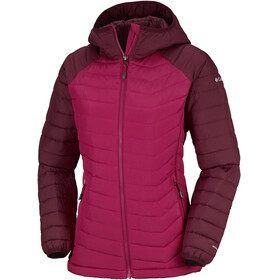 Columbia Powder Lite Hooded Jacket Women Pomegranate/Rich Wine
